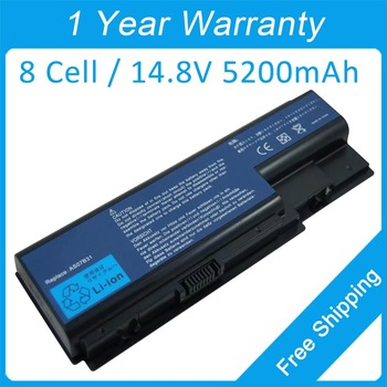 Nauja 8 cell laptopo baterija acer Aspire 7535 6935 7530 7540 5730 7730Z 7735Z 8730G 7736G AS07B41 BT.00604.018 BT.00807.014